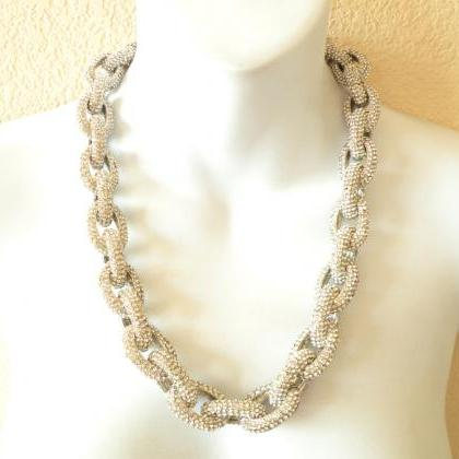 SILVER Chunky Classic Pave Link Cha..