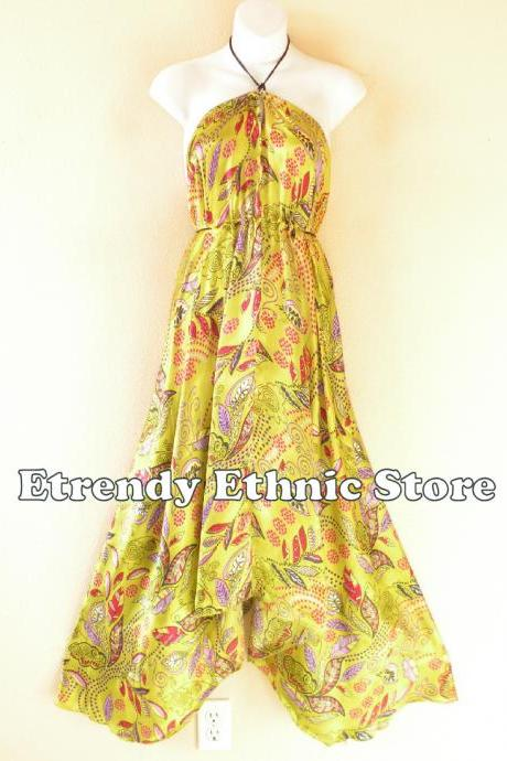 2D116 Versatile Silk Multi Wear Scarf Long Maxi Halter Dress Maternity